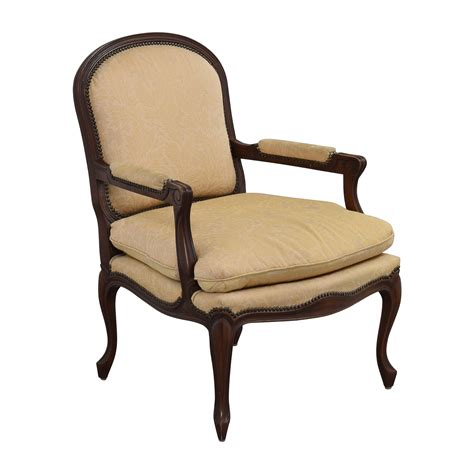 Upholstered Accent Chairs by 75 Gold Floral Jacquard Upholstered Studded Accent