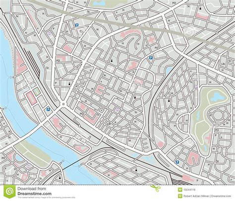 map of the city of any city map royalty free stock image image 15544116