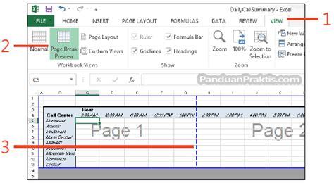 cara membuat watermark page di excel cara mengatur dan melihat page break di excel 2013
