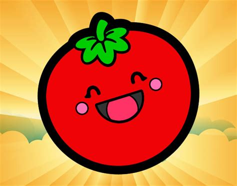 Carita S2 desenho de tomate pintado e colorido por mila s2 o dia 30