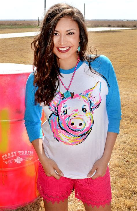 cute top from crazy train our piggly wiggly baseball tee