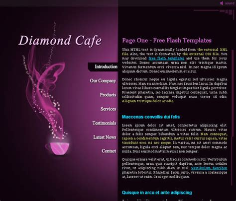 Collection Of Free Flash Website Templates With Fla Source Files Smashingapps Com Free Flash Site Templates