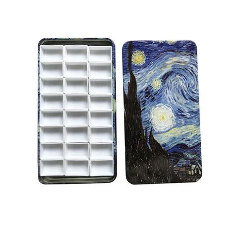 Gogh Watercolor Plastic Set 24 Half Pans metal travel tin box empty or half pans for watercolor paints 12 24 48 ebay