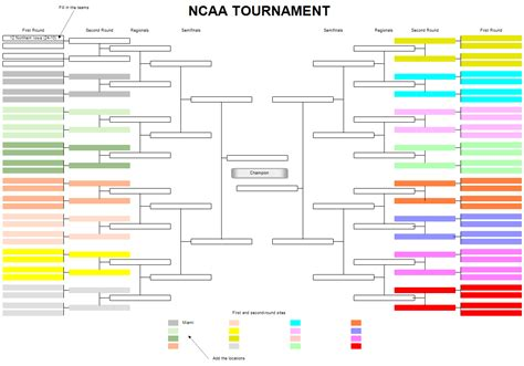 Tournament Chart Template by Tournament Bracket Templates For Excel Tournament