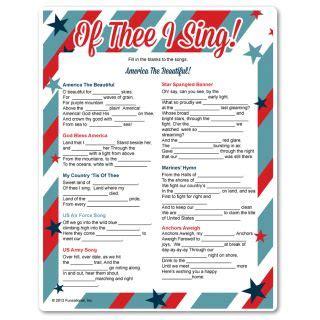 printable music lyrics quiz of thee i sing patriotic printable games veterans day
