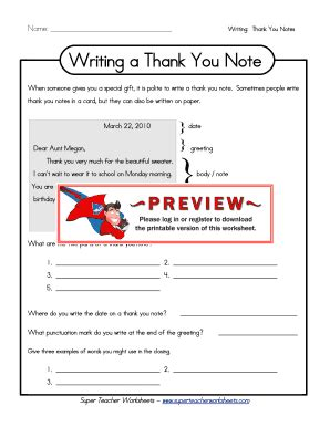 Thank You Letter Template Worksheet Worksheets On Thank Youpdf Fill Printable Fillable Blank Pdffiller