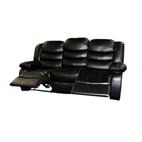 3 Seat Recliner Sofa by 3 Seat Bonded Leather Recliner Lounge Sofa In Black Buy