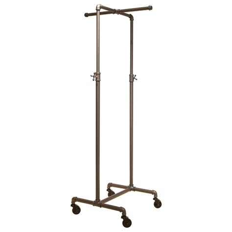 rolling garment rack coal grey single rail pipeline collection rolling clothing