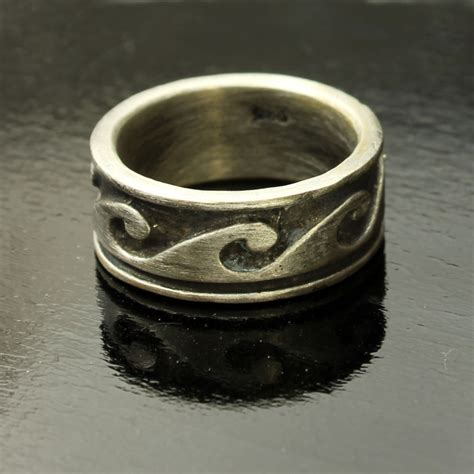 wave ring in sterling silver wave ring jewelry