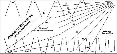 10 degree wedge template multi angle ruler