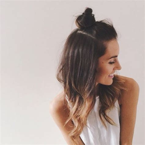 half bun half down hairstyles tumblr how to do hairstyle trend half up top knot be modish