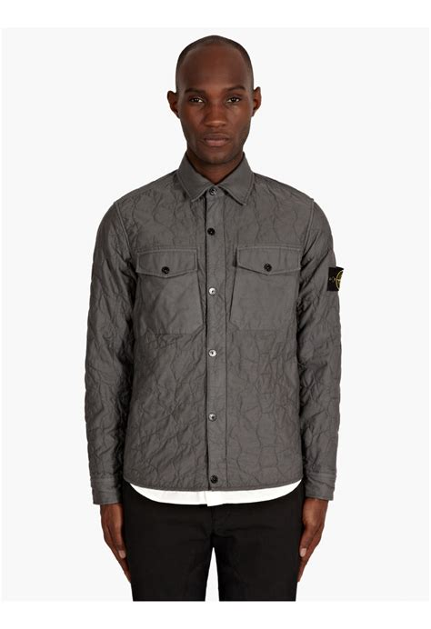 Island Quilted Overshirt by Island Overshirt Grey