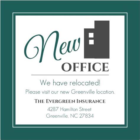 Modern Everygreen Business Moving Announcement Business Moving Announcements We Moved Email Template