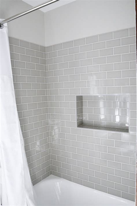 Modern Subway Tile Bathroom Designs Modern Meets Traditional Styled Bathroom Subway Tile Showers Gray Subway Tiles And