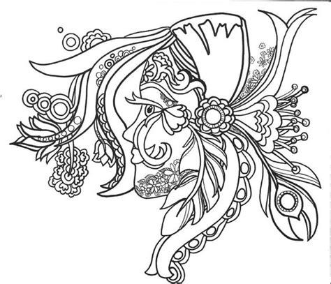 15 ColoringPages FunFancyFunkyFaces Vol.1 Original Art