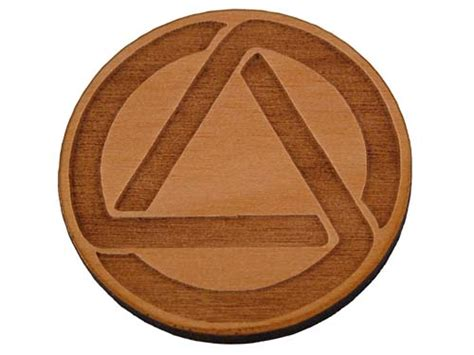aa symbol tattoos aa circle and triangle token alcoholics anonymous coins