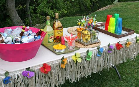 glorious treats parties 30th birthday luau party