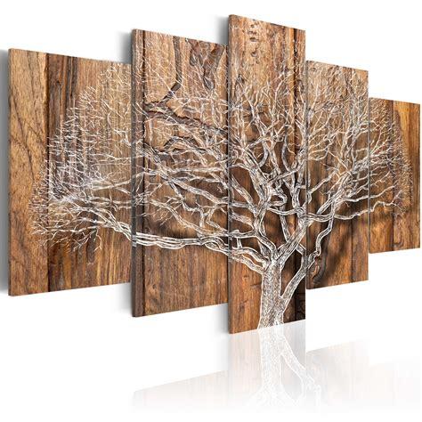 Bild Wohnzimmer Leinwand by Wandbilder Baum Natur Holz 200x100 Leinwand Bilder