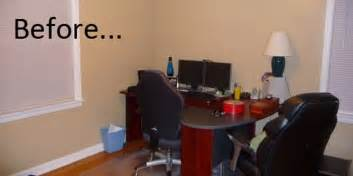 How To Decorate An Office by Before Amp After Happy Husband S Home Office Good