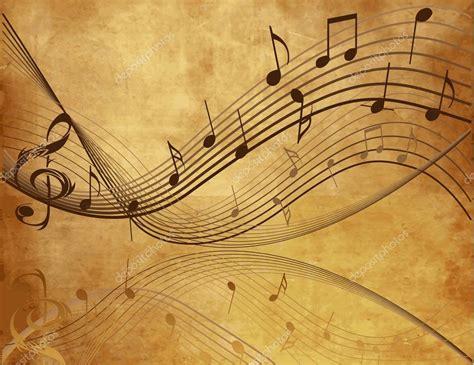 imagenes musicales retro fondo vintage con notas musicales vector de stock