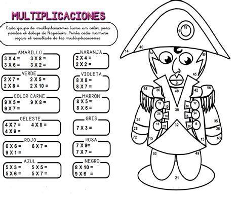 imagenes de actividades matematicas educando con amor repasando las tablas