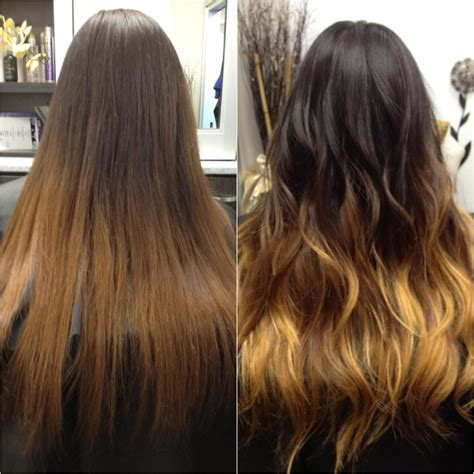 hairstyles after ombre ombre hair before and after hair ideas pinterest