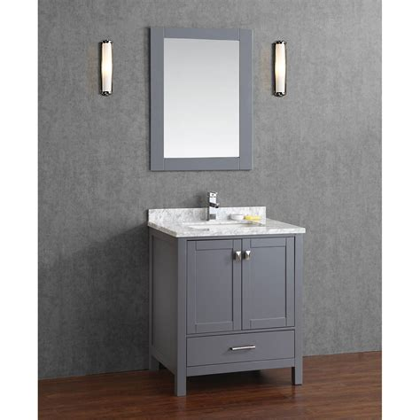Buy Vincent 30 Inch Solid Wood Double Bathroom Vanity In Gray Bathroom Vanities