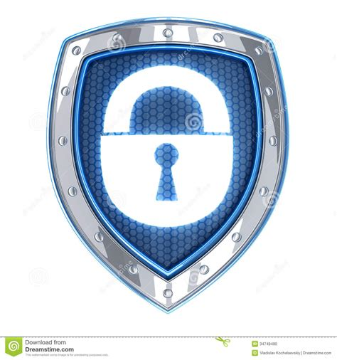 Shields Lock In by Shield And Lock Stock Photo Image 34749480