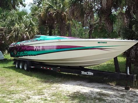 bullet boat graphics 1991 cigarette revolution powerboat for sale in florida