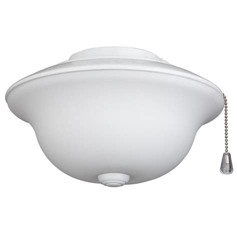 nutone frosted white glass traditional bowl ceiling fan