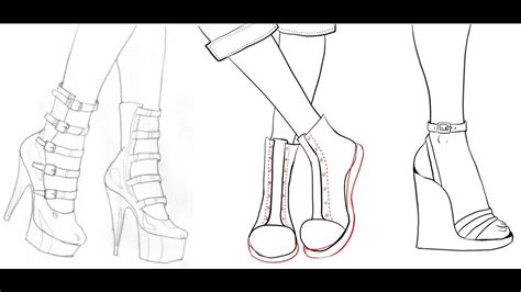 Drawings Of Shoes Easy how to draw shoes easy and simple drawing for