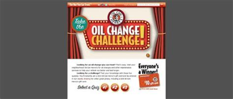 Oil Change Gift Card - oil can henry s gift card contest on oilcanhenry com oilchangechallenge