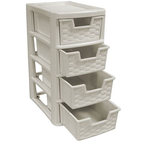 3 drawer wicker storage tower unit rattan style plastic small 4 drawer tower storage unit for