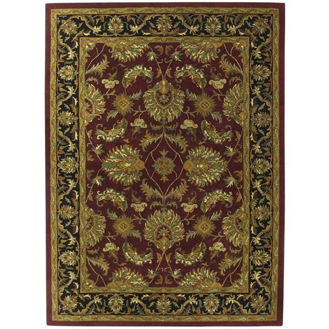 st croix rugs st croix trading made wool traditional burgundy agra 8x11 rug 169221 rugs at