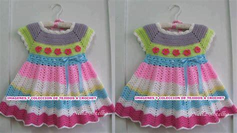 vestidos para bebes de tejido vestidos para ni 209 as y bebes tejidos a crohcet hermoso