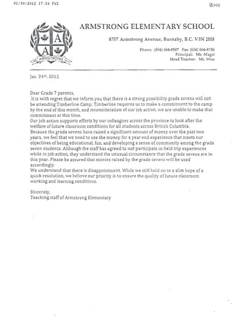 Parent Letter For Field Trip Sle Letter To Parents Regarding Field Trip 4 Ways To