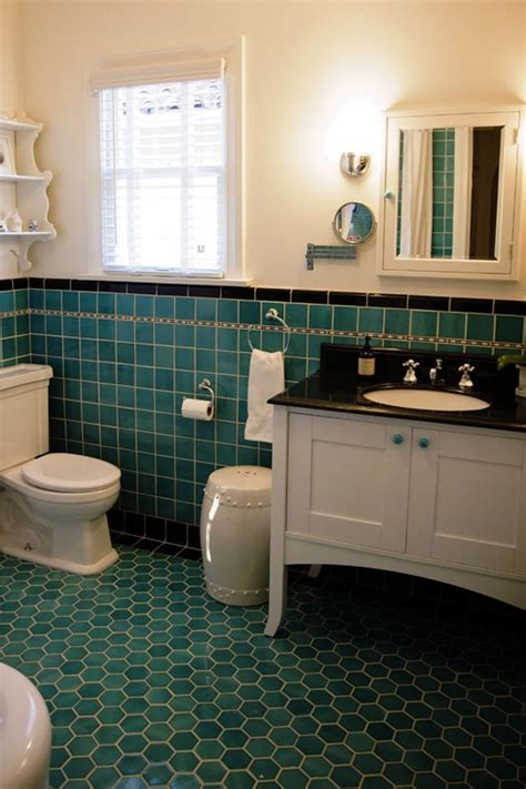 turquoise bathroom floor tiles 26 best images about retro bathrooms on
