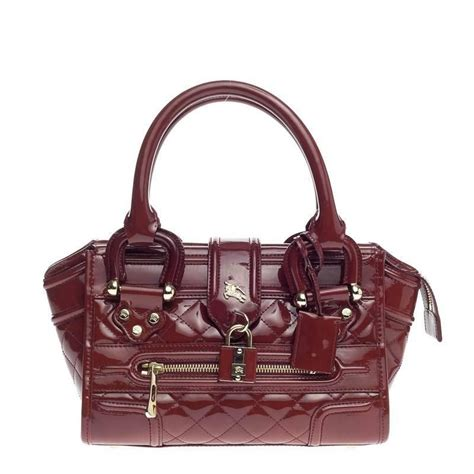 Burberry Quilted Mini Bag by Burberry Manor Bag Quilted Patent Mini At 1stdibs