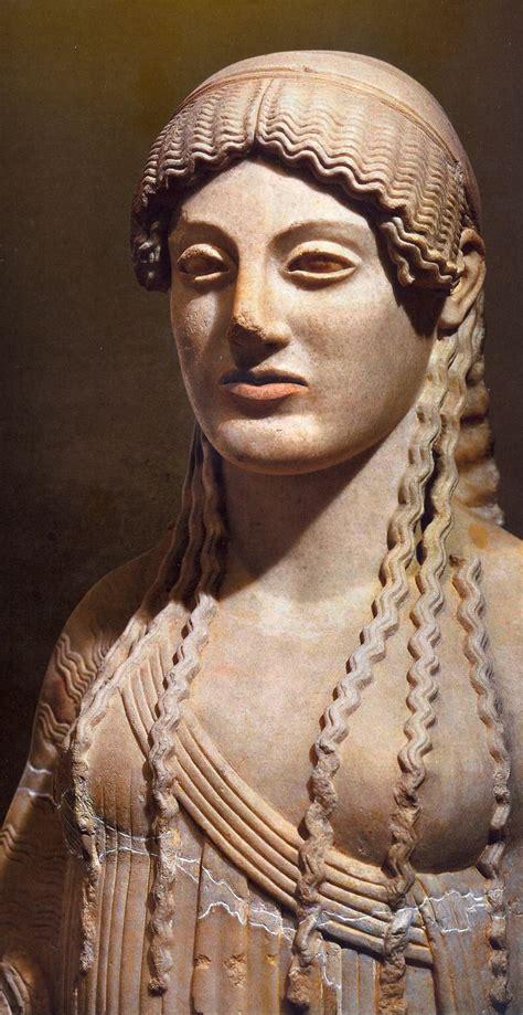 demeter hairstyle kore daughter of demeter and zeus artifacts pinterest