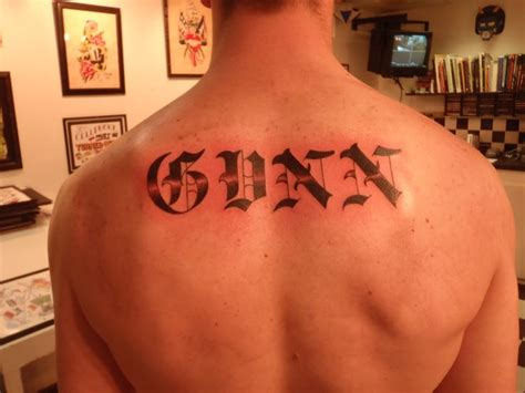 last name tattoo on back 30 best last name designs images on