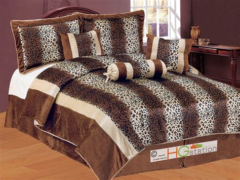 Bantal Guling Set Brown Cat 7pc faux fur leopard cheetah jaguar cat feline striped