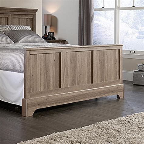 sauder salt oak sauder barrister lane salt oak queen footboard 419372