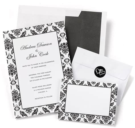 damask wedding invitation kits damask border wedding invitation kits diy wedding