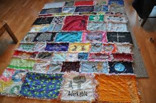 my s awesome t shirt rag quilt yeah she made this