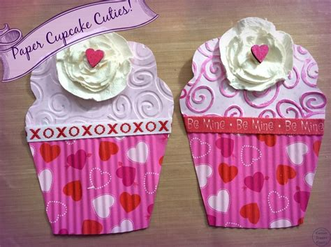 How To Make Cupcakes Out Of Paper - paper cupcake cuties canary crafts
