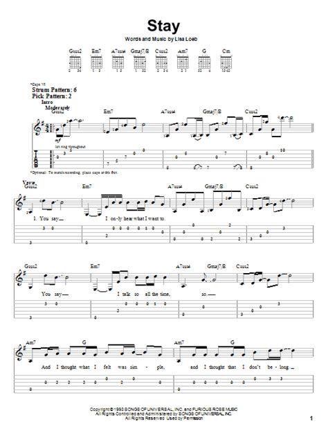 Lisa Loeb Stay Guitar Chords