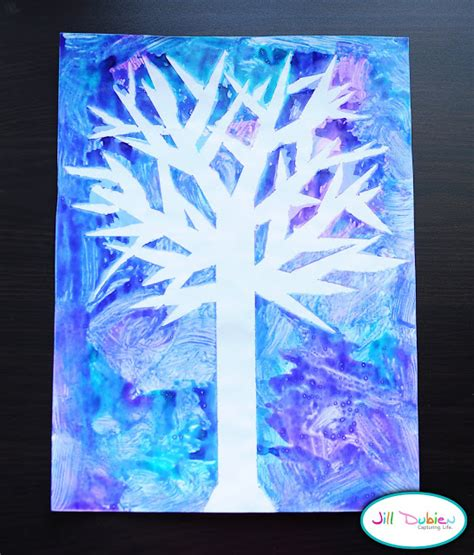 winter crafts winter tree craft munchkins and