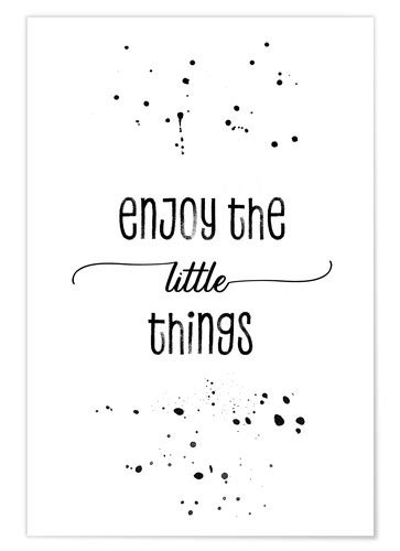 TEXT ART Enjoy the little things Poster Poster online