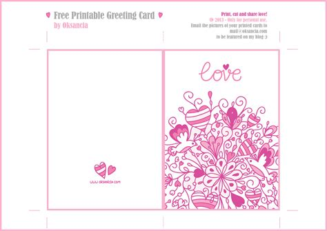 printable greeting card templates 8 best images of printable gift cards printable
