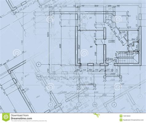 blueprint drawing program blueprint cad architectural plan drawing stock images